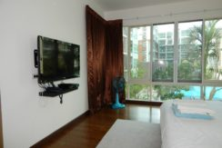 Master bedroom with TV-set