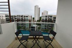 12 Furnished balcony