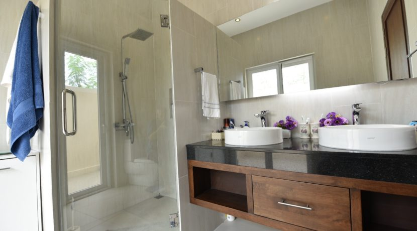 35 Master bathroom with exit to outside shower