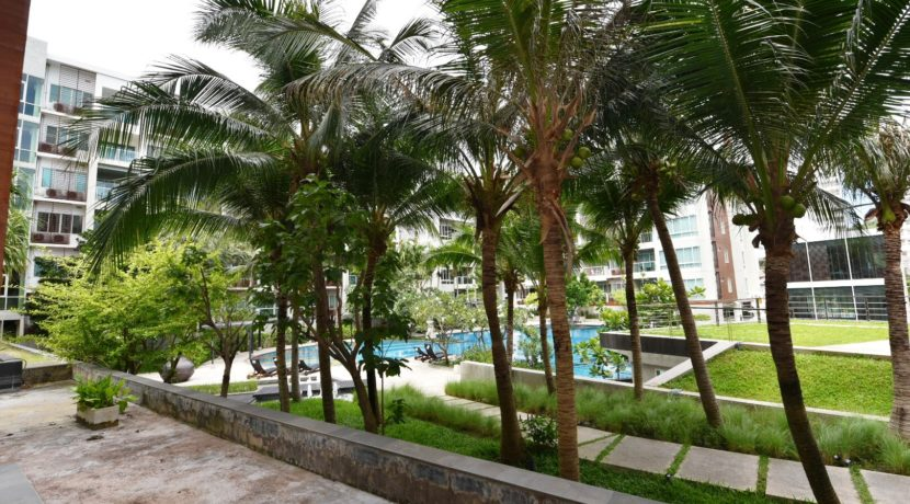 14 Balcony view to garden pool area