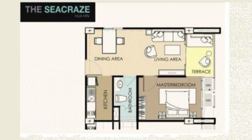 90 Condo layout 1 Bedroom