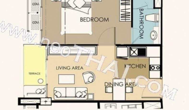 Condo layout 1Bedroom 1