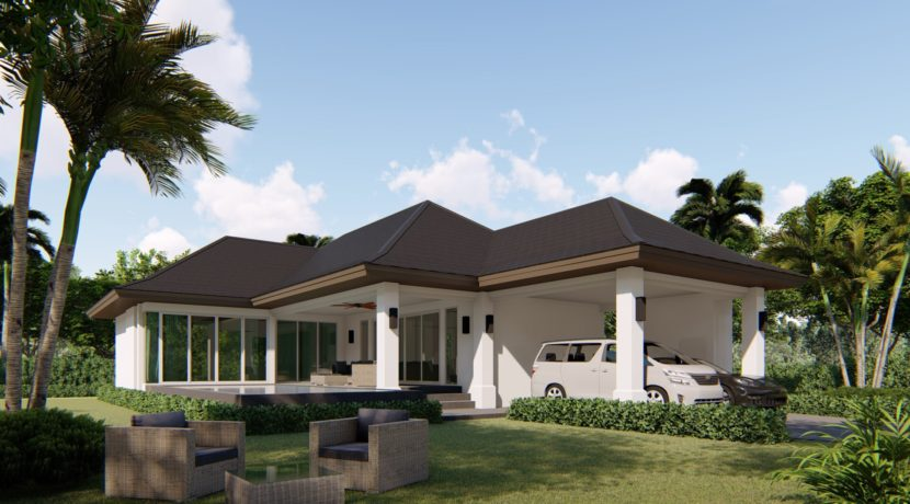 03 Plot 444 sqm (minimum). Landscaped gardens