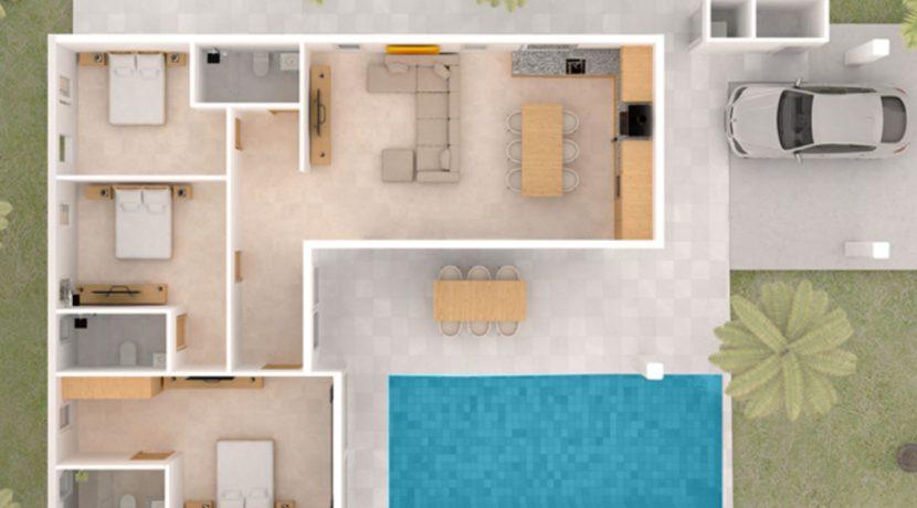 07 Three Bedroom Floor Plan