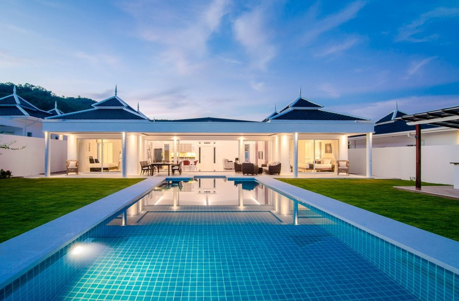 Luxury Pool Villa in Hua Hin with stunning Mountain View