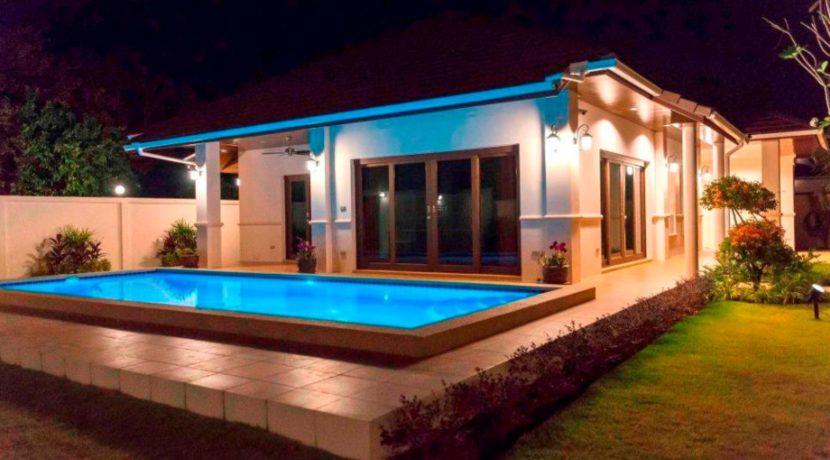 92 House with evening illumination
