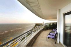 15 Wide balcony traversing living and master bedroom
