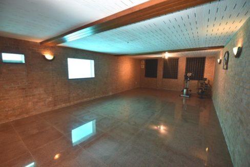 50 Basement games room with pool window