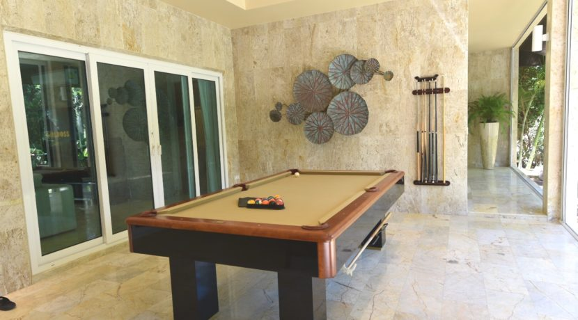 74 Pool Table at patio