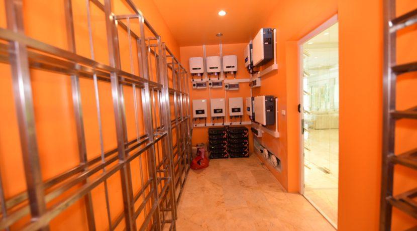 91 Solar power control room (& Wine cellar)