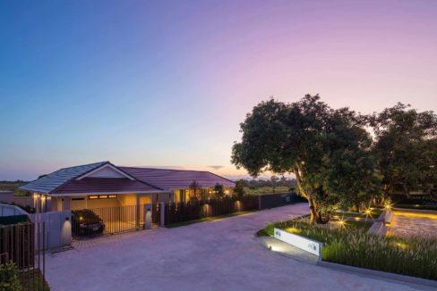 80 Villa at twilight time
