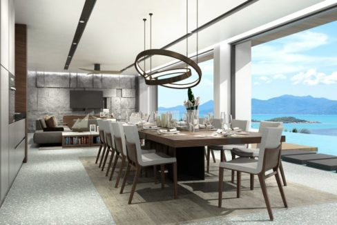 20 Large dining area with sea view