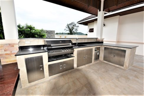 70 External BBQ kitchen with mountain view