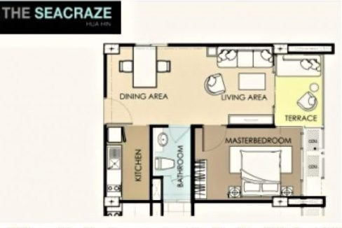 90 Floor Plan 1 Bedroom