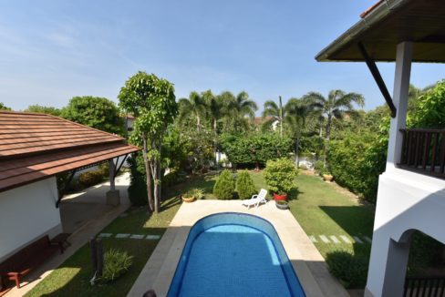43 Balcony view to pool and garden