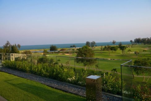 85 Garden terrace view to Sea Pines Golf
