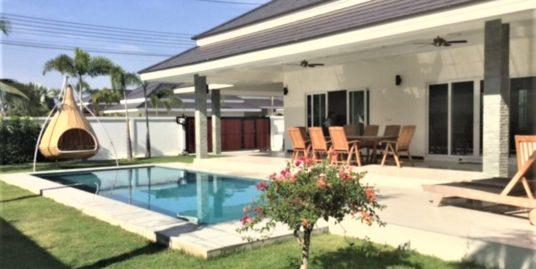Luxury 3-Bed Pool Villa in Hua Hin near Palm Hills Golf Resort (#JS)