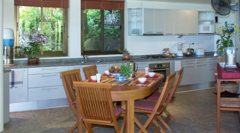 20 The kitchen and dining area