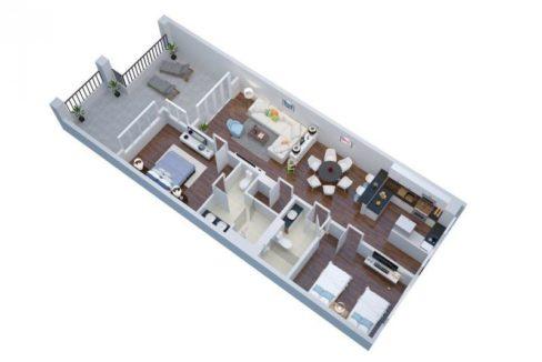 90 BM Condo Floorplan