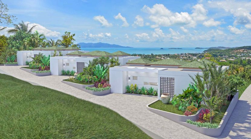 01 Samui seaview villas - Back view