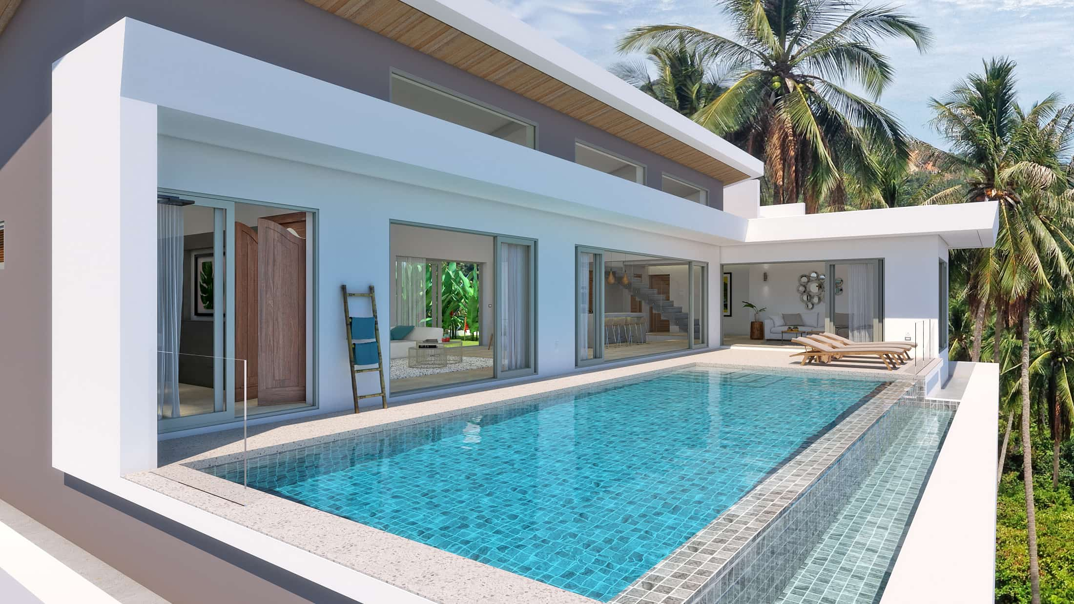 Stunning Samui Sea View Villa at Chaweng Noi