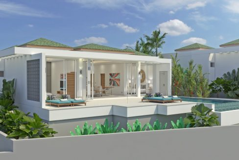 03 Samui seaview villas - Front view