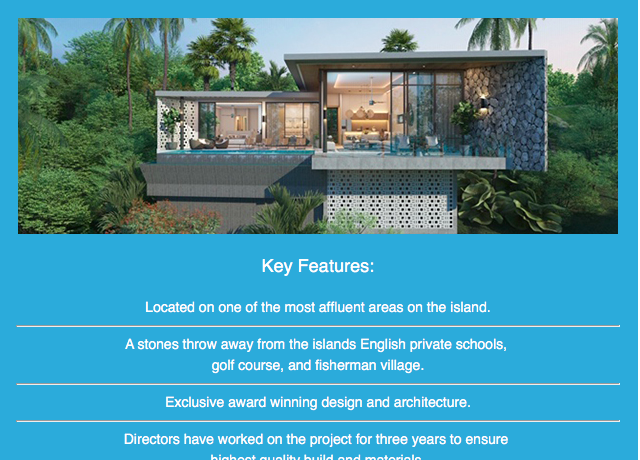 10 Villa key features