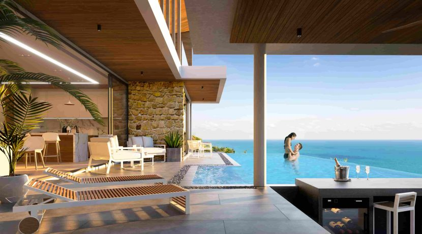 12 Large terrace and Pool area