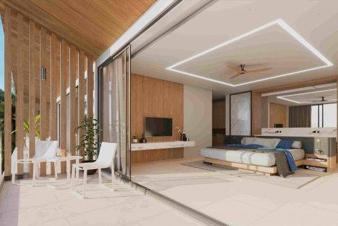 30 Spacious master bedroom with sea view
