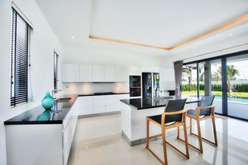 25 Fully fitted European style open kitchen