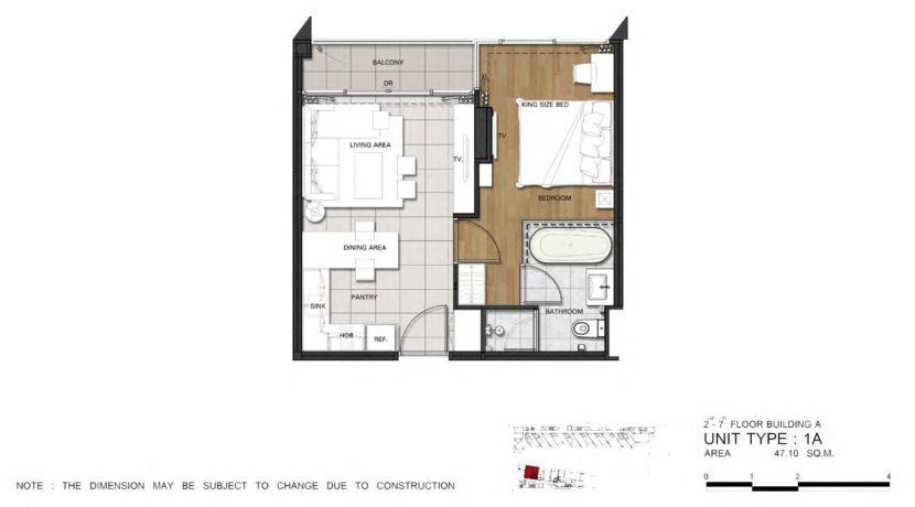 81 Floorplan (Unit Type 1A)