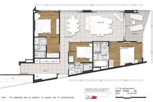 83 Floorplan (Unit Type 3A)