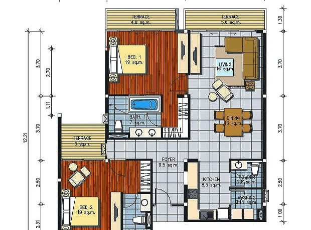 70 Palm Crescent Condo Layout Type-E