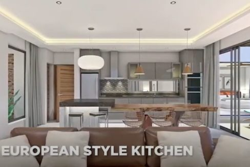 11 Living-dining room with open kitchen