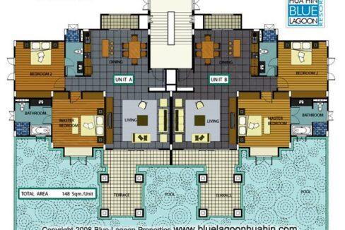 83 Blue Lagoon Condo layout
