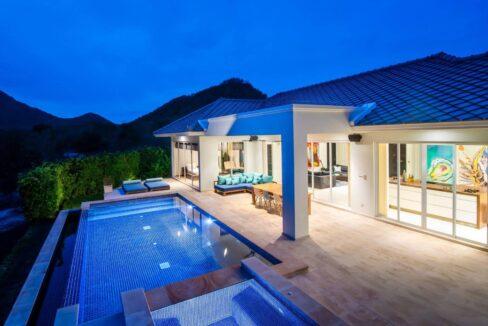 03D Luxury pool villa exterior