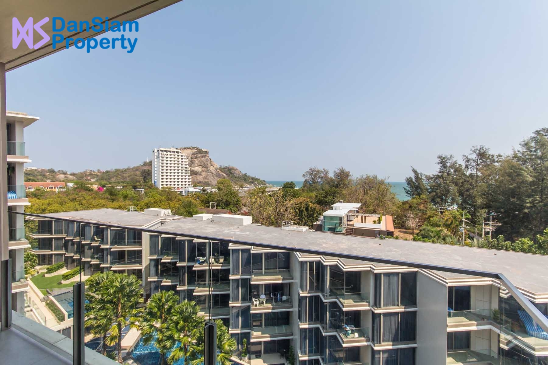 Beach Condo in Hua Hin with Sea, Mountain & Golf View