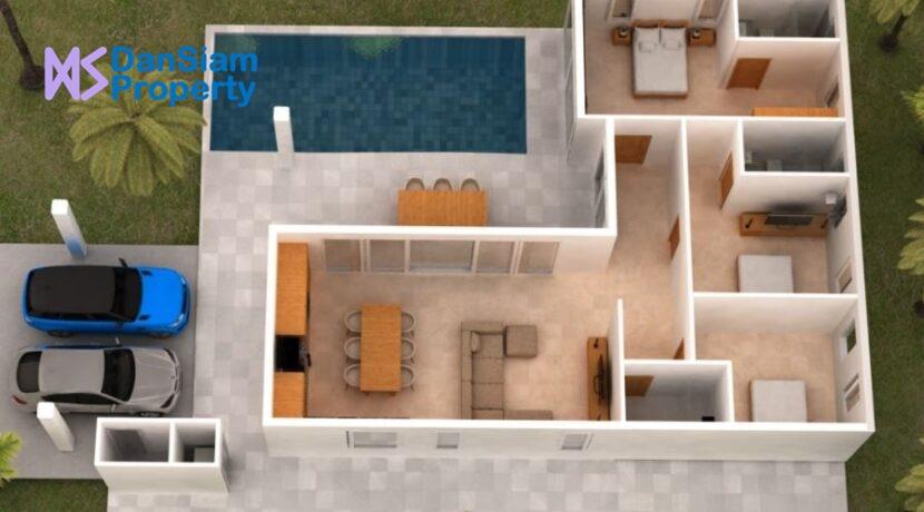91 Floorplan Type-A (L-Shape) 3D-Model