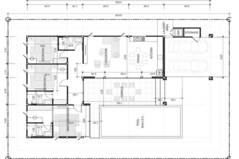 92 Floorplan Type-A (L-Shape) Drawing
