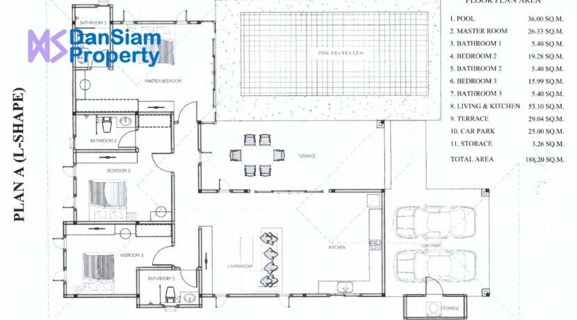 92 AHH House Type-A Floorplan (L-Shape)