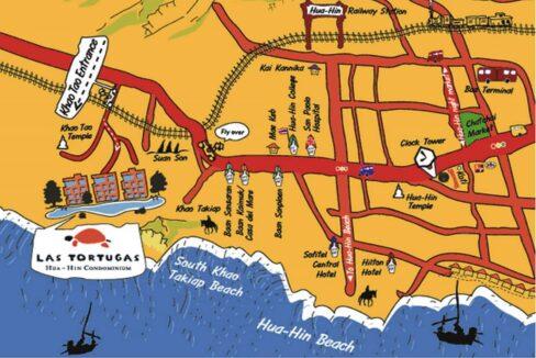 90 Las Tortugas Map