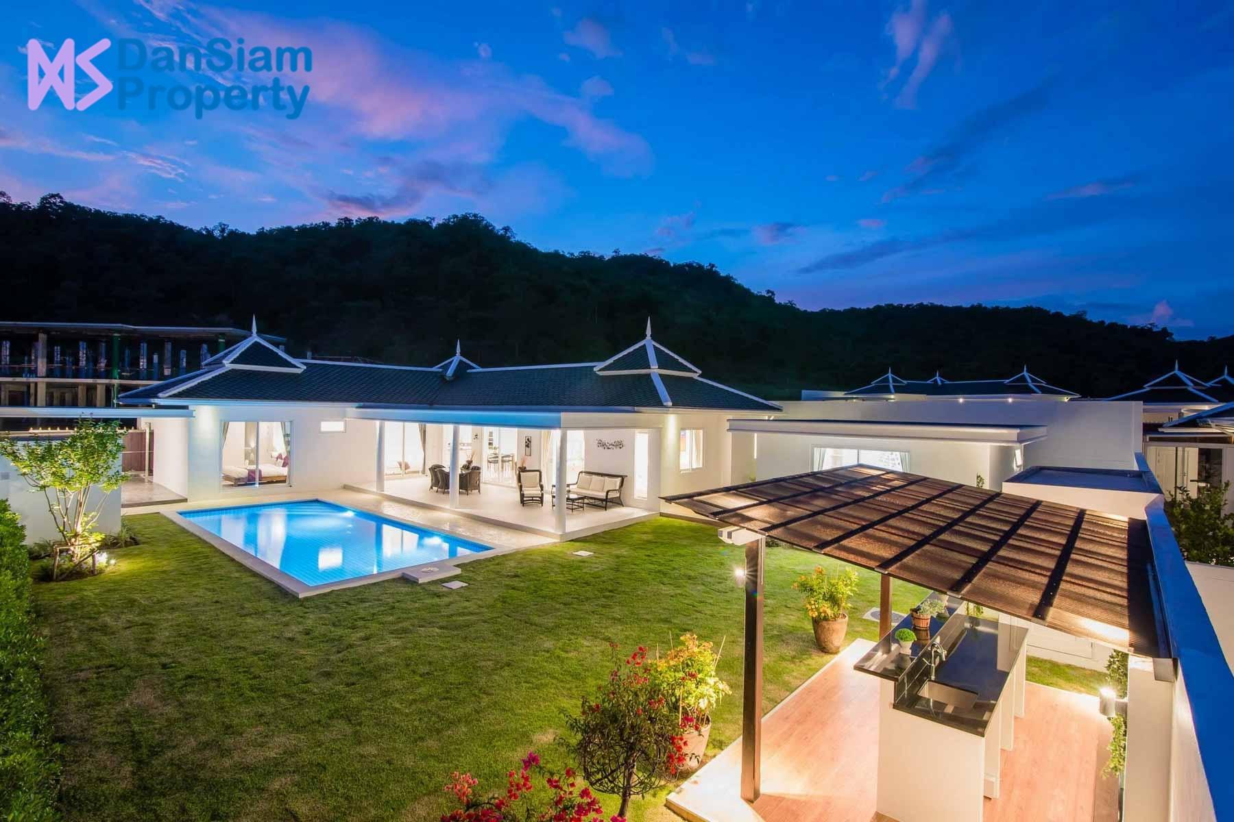 Luxury 4-Bedroom Pool Villa in Hua Hin at Falcon Hill